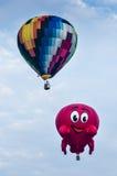 Hot Air Balloons. View of hot air balloons floating in the air at Putrajaya Hot Air Balloon Festival Stock Image