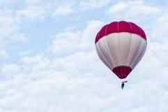 Hot Air Balloons. View of hot air balloons floating in the air at Putrajaya Hot Air Balloon Festival stock photography
