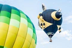 Hot Air Balloons. View of hot air balloons floating in the air at Putrajaya Hot Air Balloon Festival royalty free stock image