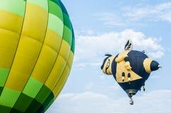 Hot Air Balloons. View of hot air balloons floating in the air at Putrajaya Hot Air Balloon Festival royalty free stock photography