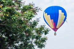 Hot Air Balloons. View of hot air balloons floating in the air at Putrajaya Hot Air Balloon Festival stock photo