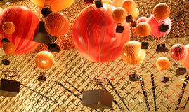 Hot air baloon. In a shop windows Stock Photo