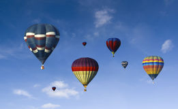 Hot air baloon. A lot of hot air baloons with blue sky background Royalty Free Stock Photos