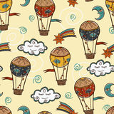 Hot air baloon background. Seamless pattern with Hot air baloon Stock Photos