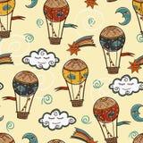 Hot air baloon background Stock Photos