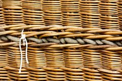 Hot air baloon basket, detail Stock Photo