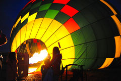 Hot air baloon burner. Photo taken on: August 12, 2012 royalty free stock image