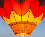 Hot air baloon in flight early moring Stock Photo