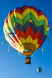 Hot air baloon in flight Stock Photography