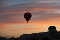Hot Air Baloon over Cappadocia at sunrise. Stock Image