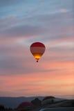 Hot Air Baloon over Cappadocia at sunrise. Turkey stock photo