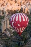 Hot Air Baloon over Cappadocia at sunrise. Turkey Royalty Free Stock Photos