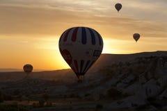Hot Air Baloon over Cappadocia at sunrise. Stock Photography