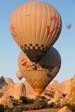 Hot Air Baloon over Cappadocia at sunrise. Royalty Free Stock Images