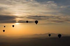 Hot Air Baloon over Cappadocia at sunrise. Royalty Free Stock Photography
