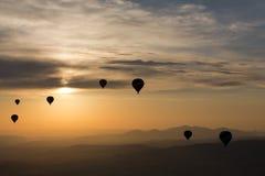 Hot Air Baloon over Cappadocia at sunrise Royalty Free Stock Photo