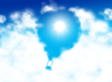 Hot air baloon shaped cloud Royalty Free Stock Images