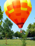 Hot air baloon takeoff Stock Images