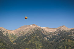 Hot air baloon in Wyoming Stock Photos