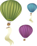 Hot air baloons with banner Stock Photography