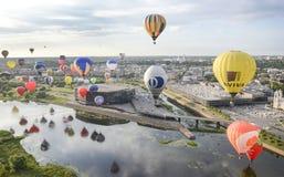 Hot air baloons over Kaunas, Lithuania