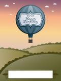 Hot air birthday balloon Royalty Free Stock Photo