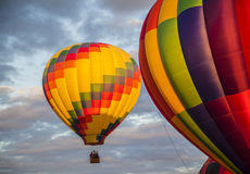 Hot Air. Colorful Hot air balloons on a cloudy morning Royalty Free Stock Image