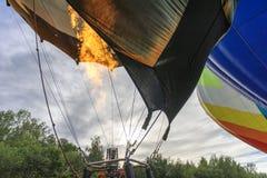 Hot air filling of a hot air balloon royalty free stock images