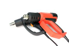 Hot air gun. The construction and repair. Hot air gun Royalty Free Stock Image