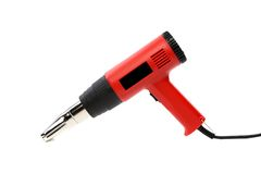 Hot air gun. isolated on a white background Royalty Free Stock Photos