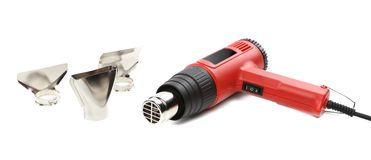 Hot air gun with tips. Royalty Free Stock Images