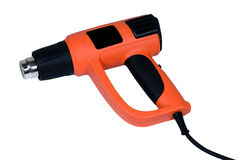 Hot air gun. On a white background Stock Image
