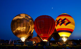 Hot air. The Ohio Challenge ballon festival in Middletown Ohio Royalty Free Stock Images
