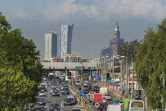 Hot air over access road to  Warsaw city Stock Image