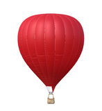 Hot air red balloon isolated. On white background. 3d rendering Royalty Free Stock Photography