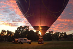 Hot aire balloon. Ready for take off Stock Photography