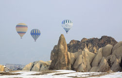 Hot ait ballons in Cappadocia Stock Image