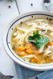Hot and alible chicken soup Stock Photos