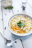 Hot and alible chicken soup Stock Photography