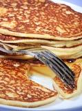 Hot american pancakes Stock Photos