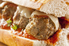 Hot And Homemade Spicy Meatball Sub Sandwich Stock Images