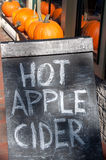 Hot Apple Cider Chalkboard Sidewalk Sign Royalty Free Stock Images