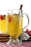 Hot apple cider with cinnamon Stock Photos