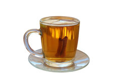 Hot apple cider with two slices of apple and cinna Stock Image