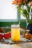 Hot apple cider vinegar and honey drink Royalty Free Stock Photography