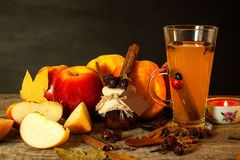 Hot apple drink. Traditional drink for winter evenings. Royalty Free Stock Photos