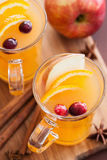 Hot apple orange cider with cinnamon spice warming drink Royalty Free Stock Photos