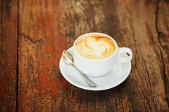 Hot art Latte Coffee Stock Photos
