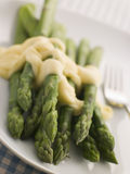 Hot Asparagus Hollandaise Stock Images
