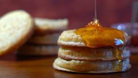 Hot Australian English style breakfast crumpets Royalty Free Stock Photography